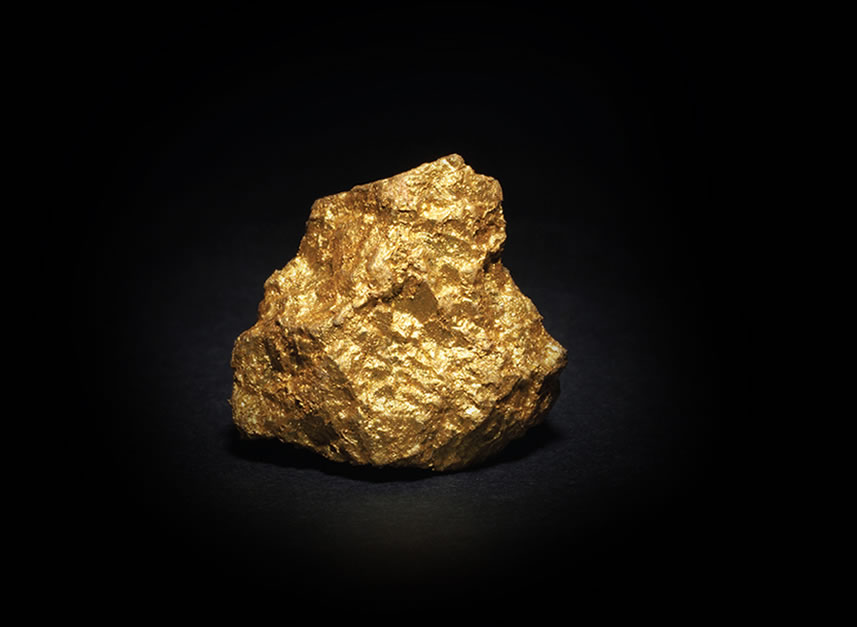 Rare gold nugget