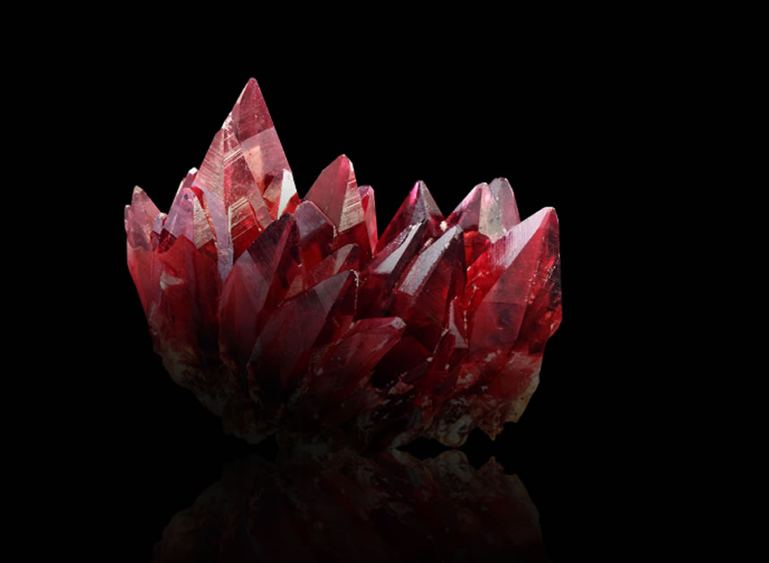 Unicate ruby stone in natural state